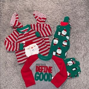 Three sets of Christmas Pajamas